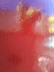 red paint reflections by synesthesea