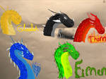 The Main Five Dragons In Eragon by DanielReh