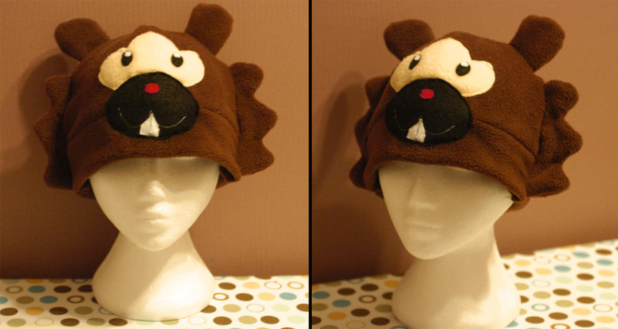 Bidoof Hat by RainbowChickenDance