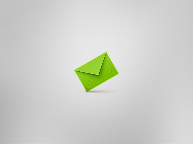simple envelope icon by Voicehovich