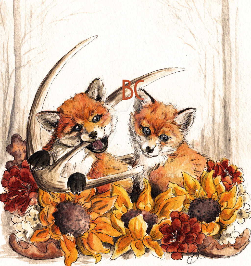Autumn Fox Kits by lavandulae
