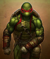 Raphael (Teenage Mutant Ninja Turtles) by SanyLebedev