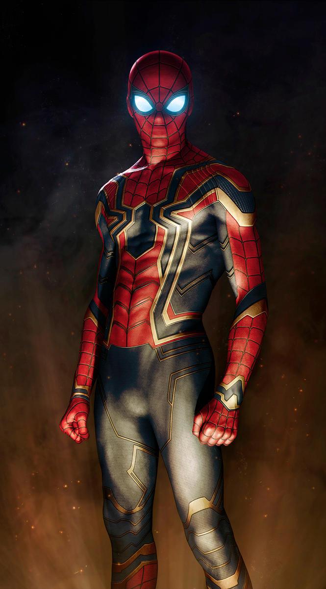 Iron spider armor avengers infinity war fan art by - Spider man infinity war wallpaper ...