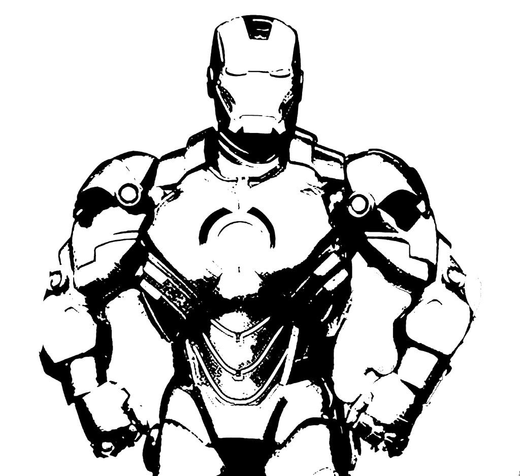 Ironman Stencil By BNRGY On DeviantArt