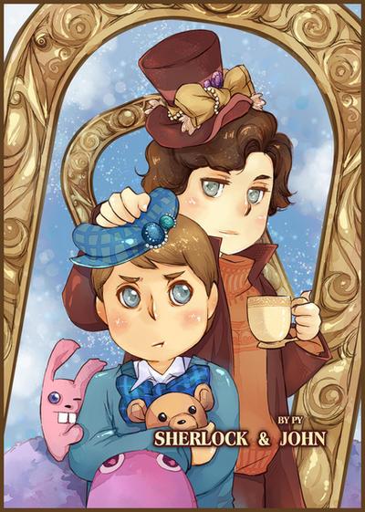 SHERLOCK and JOHN by PYdiyudie