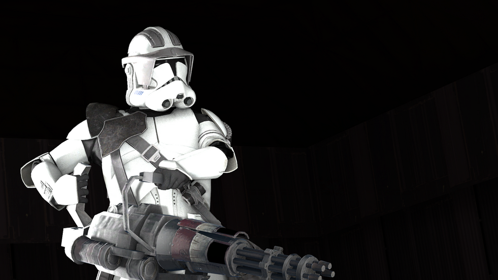 Clone Trooper Heavy (Wallpaper) by LightSabersEdge on ...