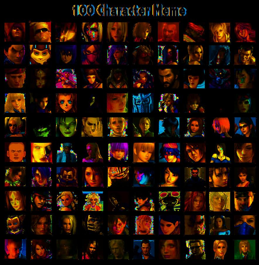 100 Characters Meme By Whitedevil350 On Deviantart