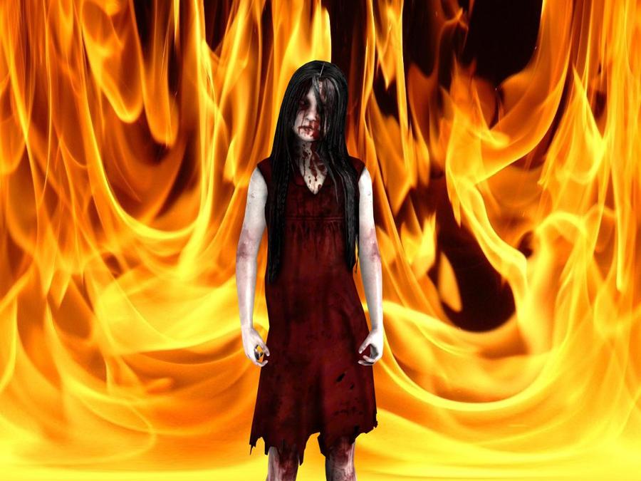 Alma in  fire. by WhiteDevil350