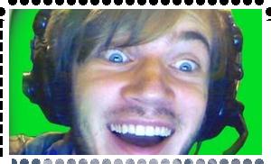 PewdiePie stamp by White---Devil