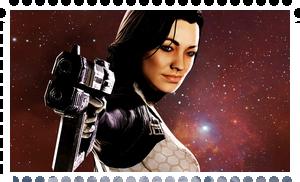 Miranda Lawson stamp by LaraHaller