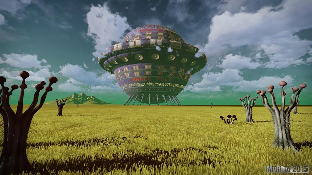 Alien planet by My-Rho