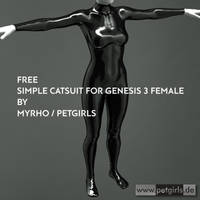 Free (simple) Catsuit for Genesis 3 female. by My-Rho