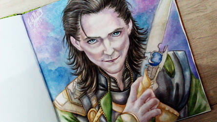 Loki (first try) by GoldieMilrose