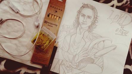Laufeyson sketch by GoldieMilrose