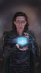 The tesseract...Or your brother's head by GoldieMilrose