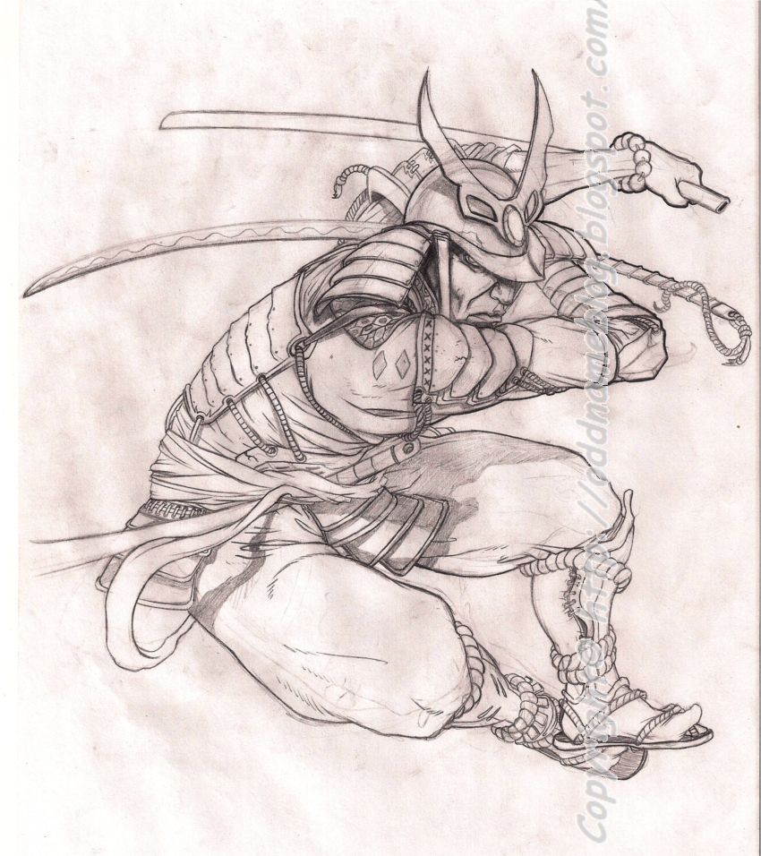 Samurai Tattoo Drawing Designs