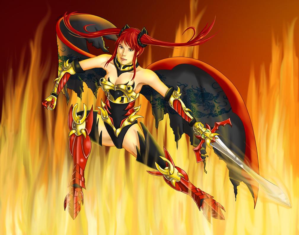 Erza Fire by Ichi1985 on DeviantArt