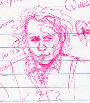 schoolgirl doodle of mistah j