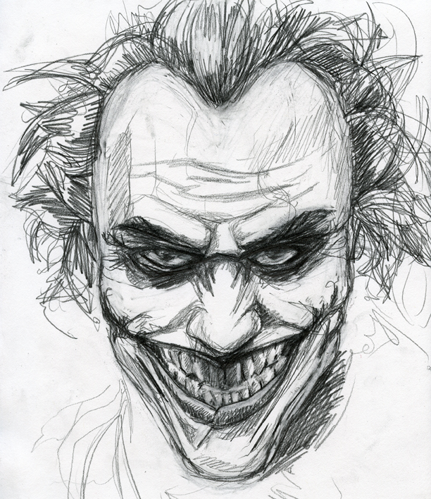 Joker Sketch By Jimothy Bobert