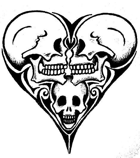 Skull Heart By Loevenstein