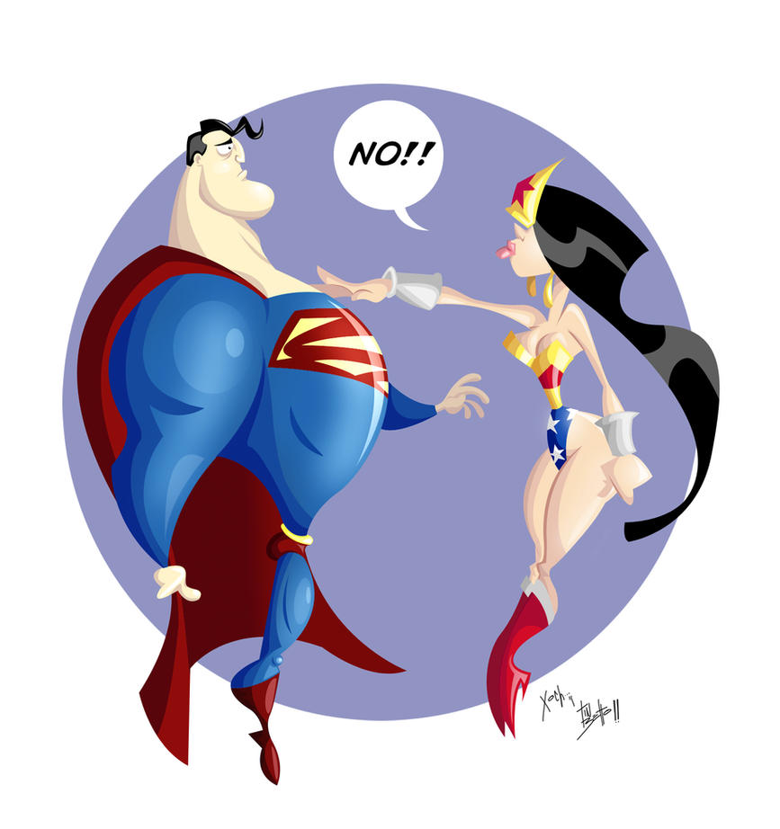 Wonder Woman, Superman by tinbetto on DeviantArt