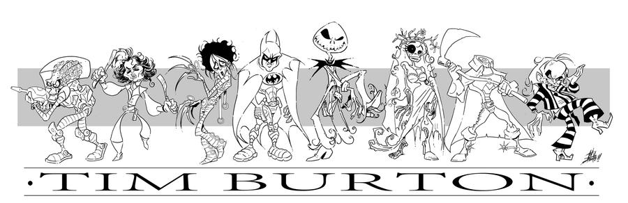 Tim burton tribute by tinbetto on deviantart for Tim burton coloring pages