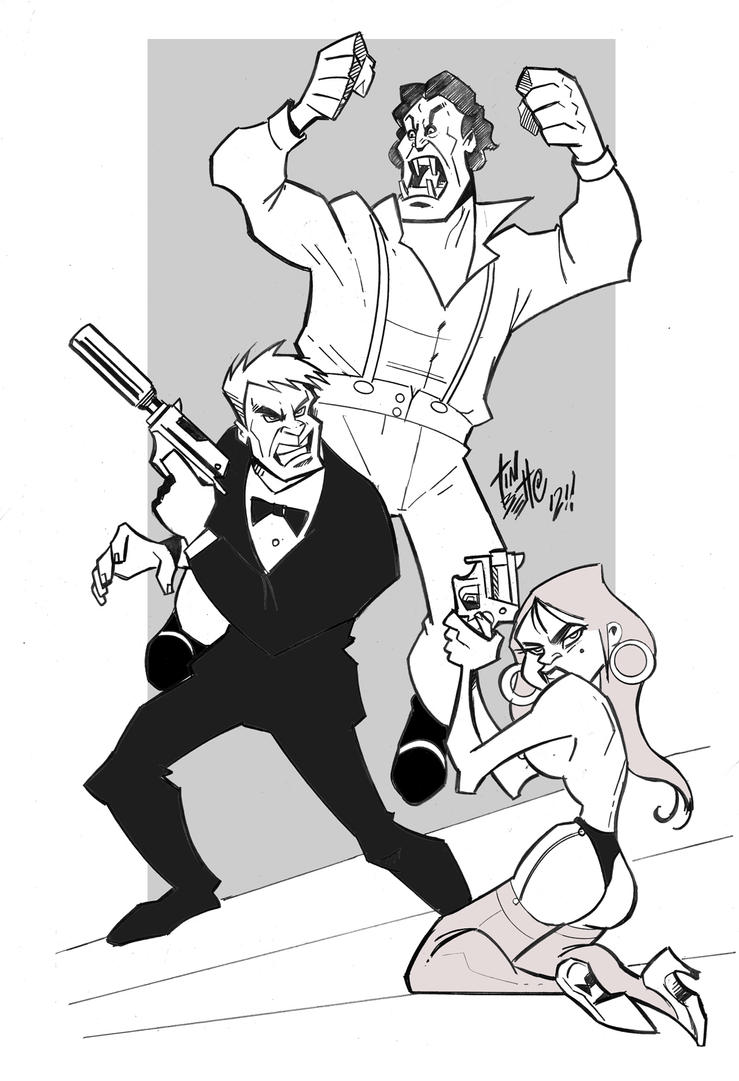 james bond coloring pages characters - photo#7