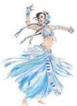 Blue Tribal Belly Dancer