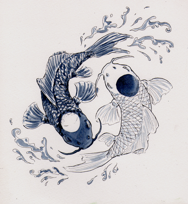 gallery yin yang fish painting