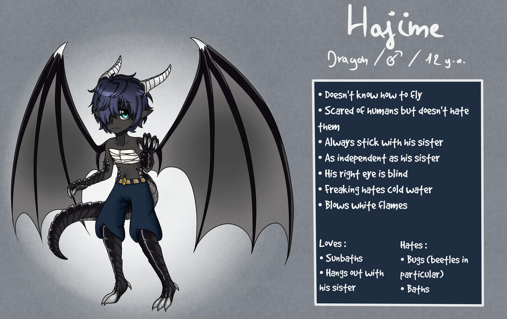 Reference sheet || Hajime by Mysteriie