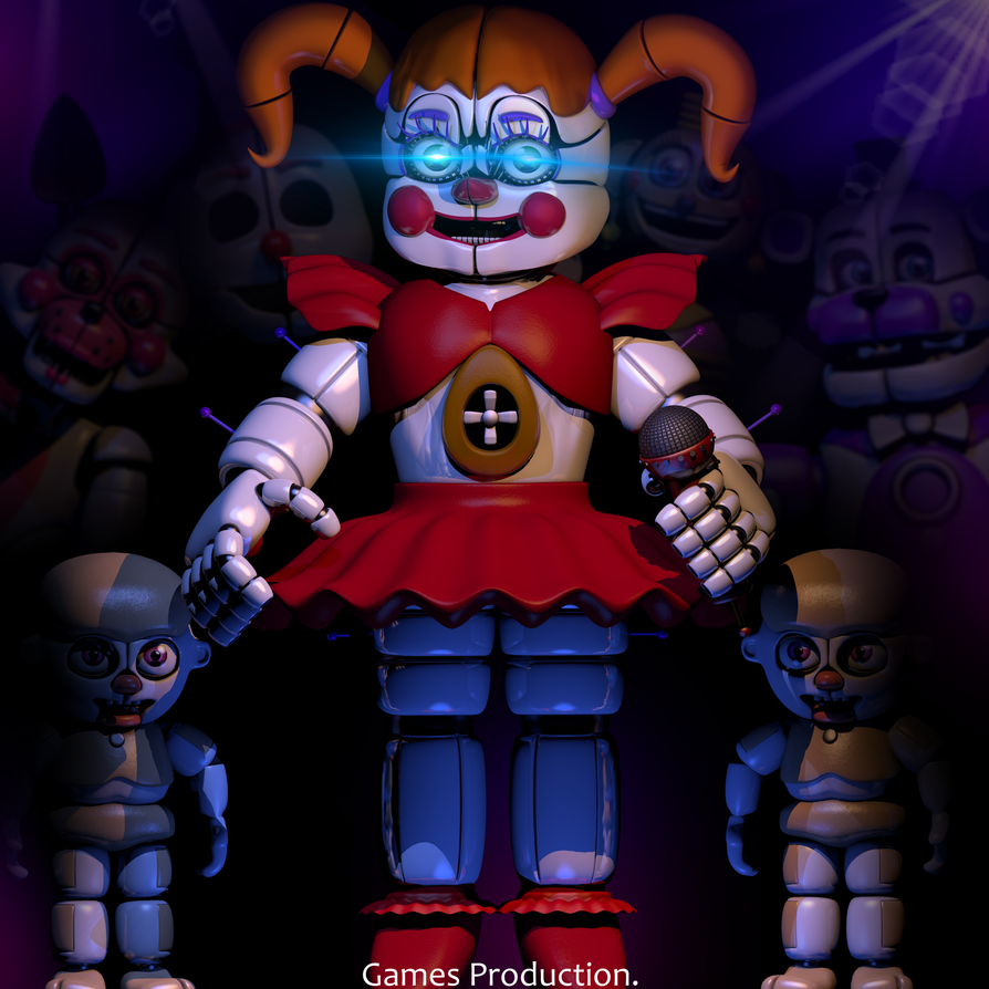 Circus Baby Special Render 4k By Gamesproduction On