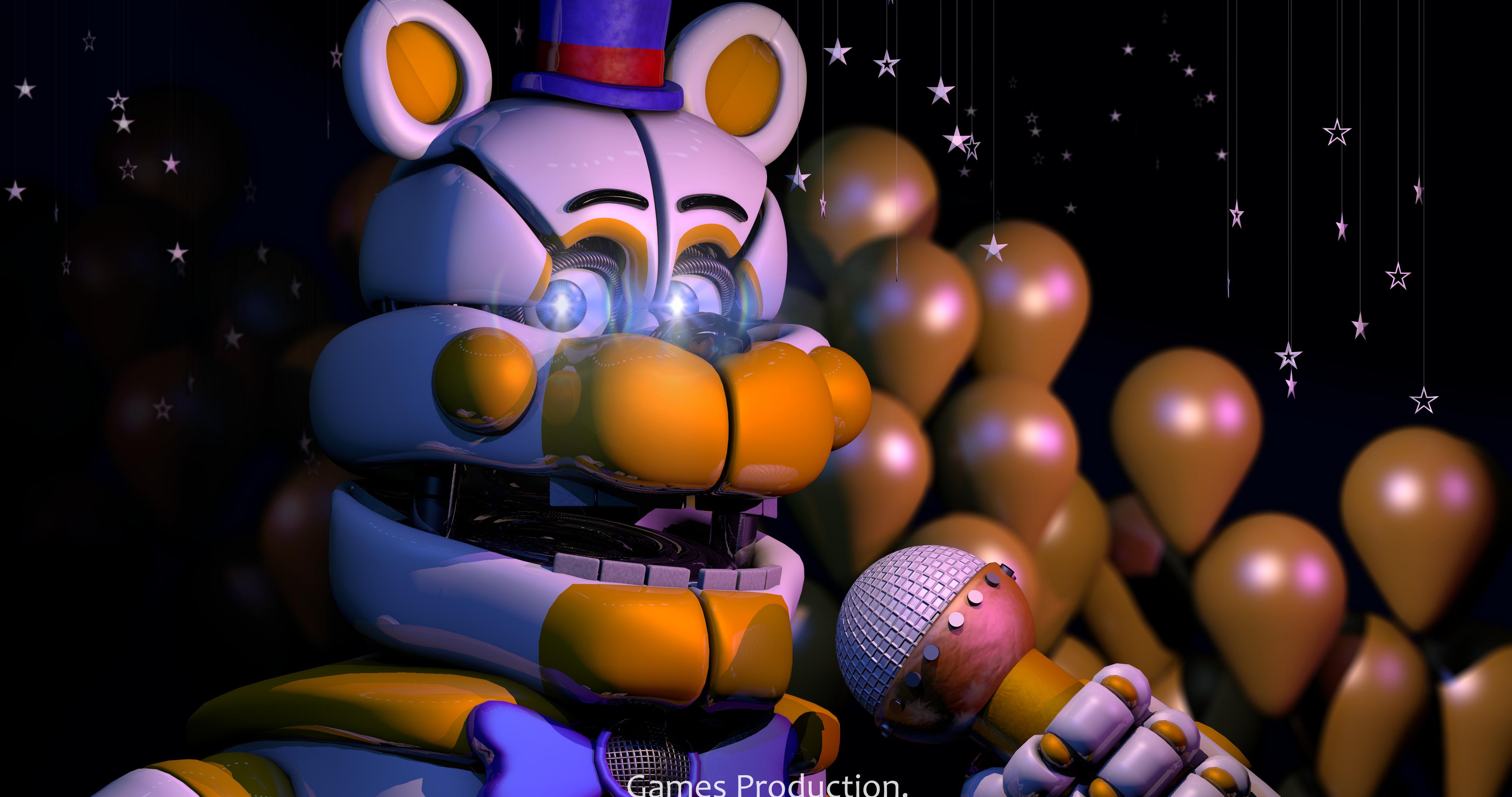 Funtime Fredbear V 2 4k By Gamesproduction On Deviantart