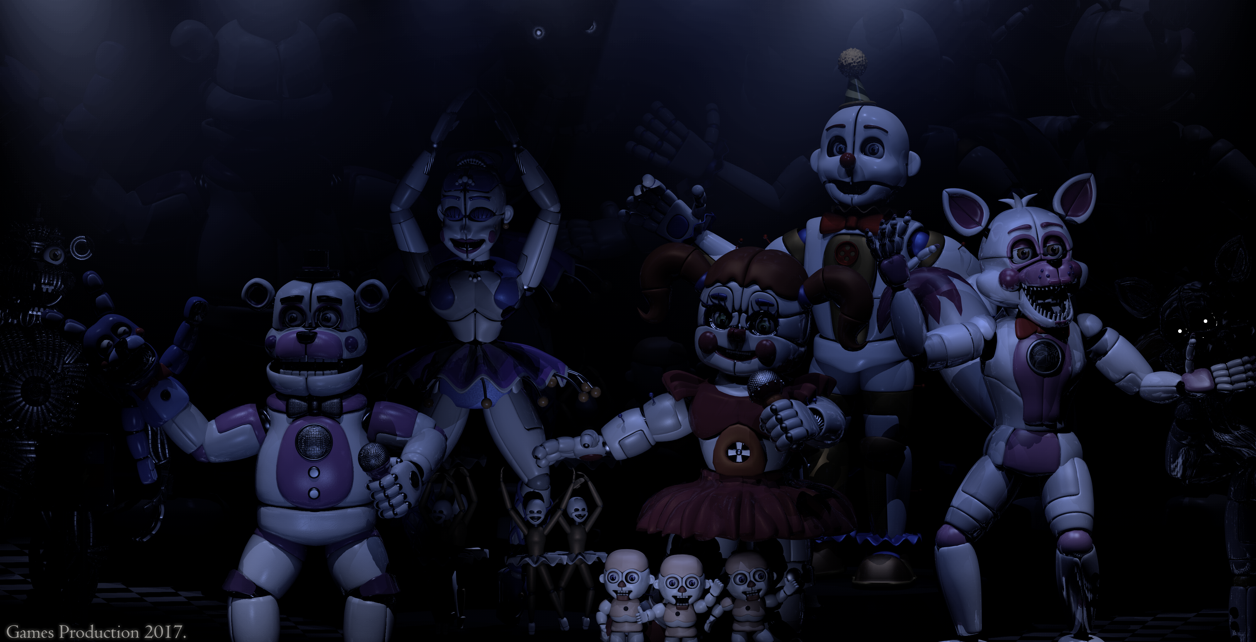 Toy Room Storage The Final Show Fnaf Sl Wallpaper By Gamesproduction On