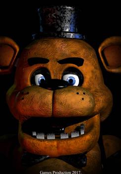 3Ds Max - Freddy Fazbear Poster