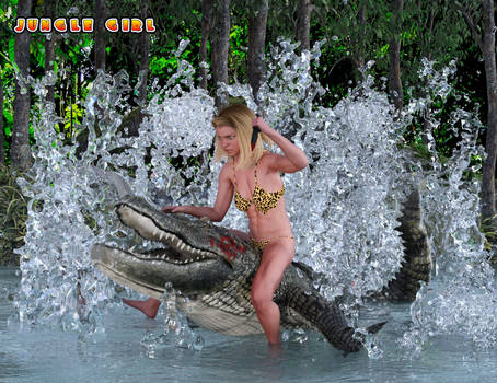 Jungle Girl and the Crocodile