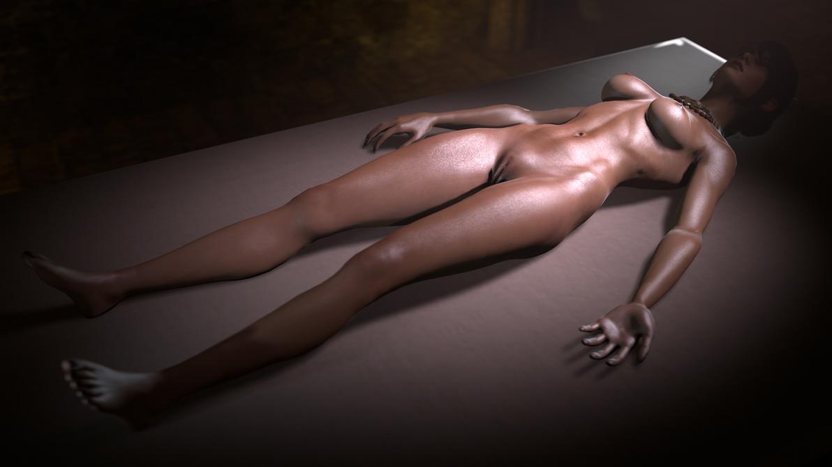 Morrigan sleeping by Crysis328