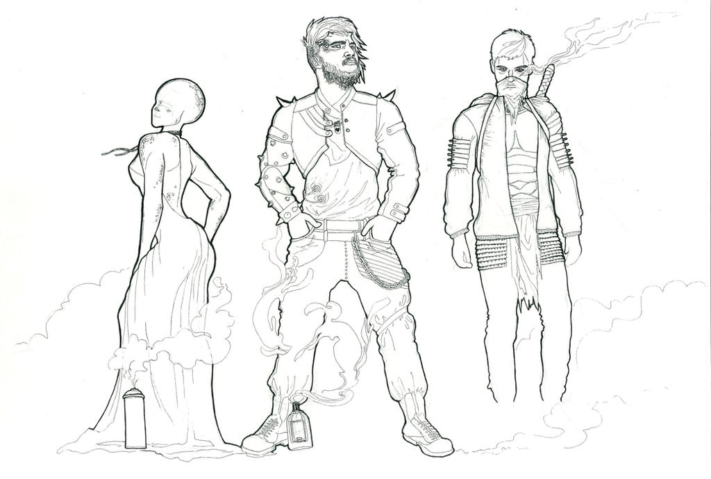 concept art of new characters for my universe. by White-Zebrana