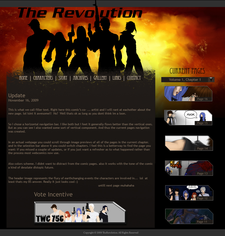 Revolution mainpage 2.1 by ThingsNotSeen