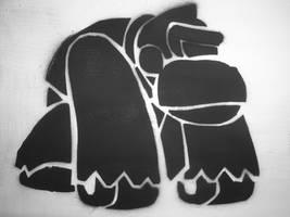 stencil kong by zombiecore