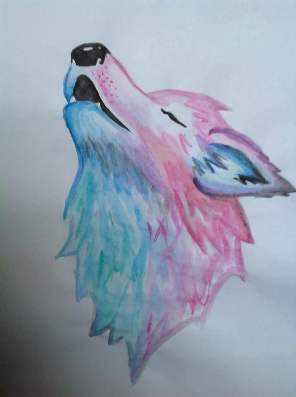 bluepink wolf by hairi14 on deviantart