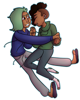 Art Trade: Hoodie Boyfriends by criaha