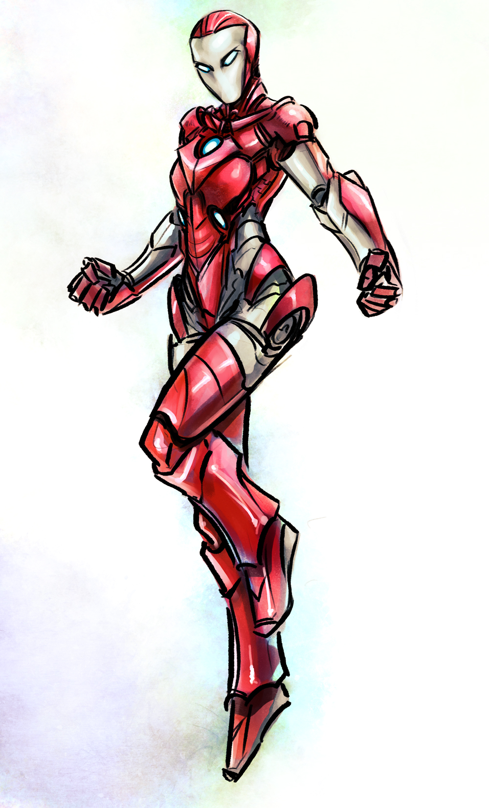 Iron Man Lady - request by Psuede on DeviantArt