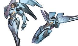 Raptorion Battleoid and Flight Mode