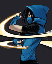 Cassandra Cain Blue by Psuede