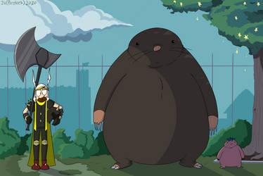 My Neighbor the Giant Mole by prezleek