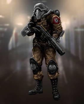 A German riot guard.