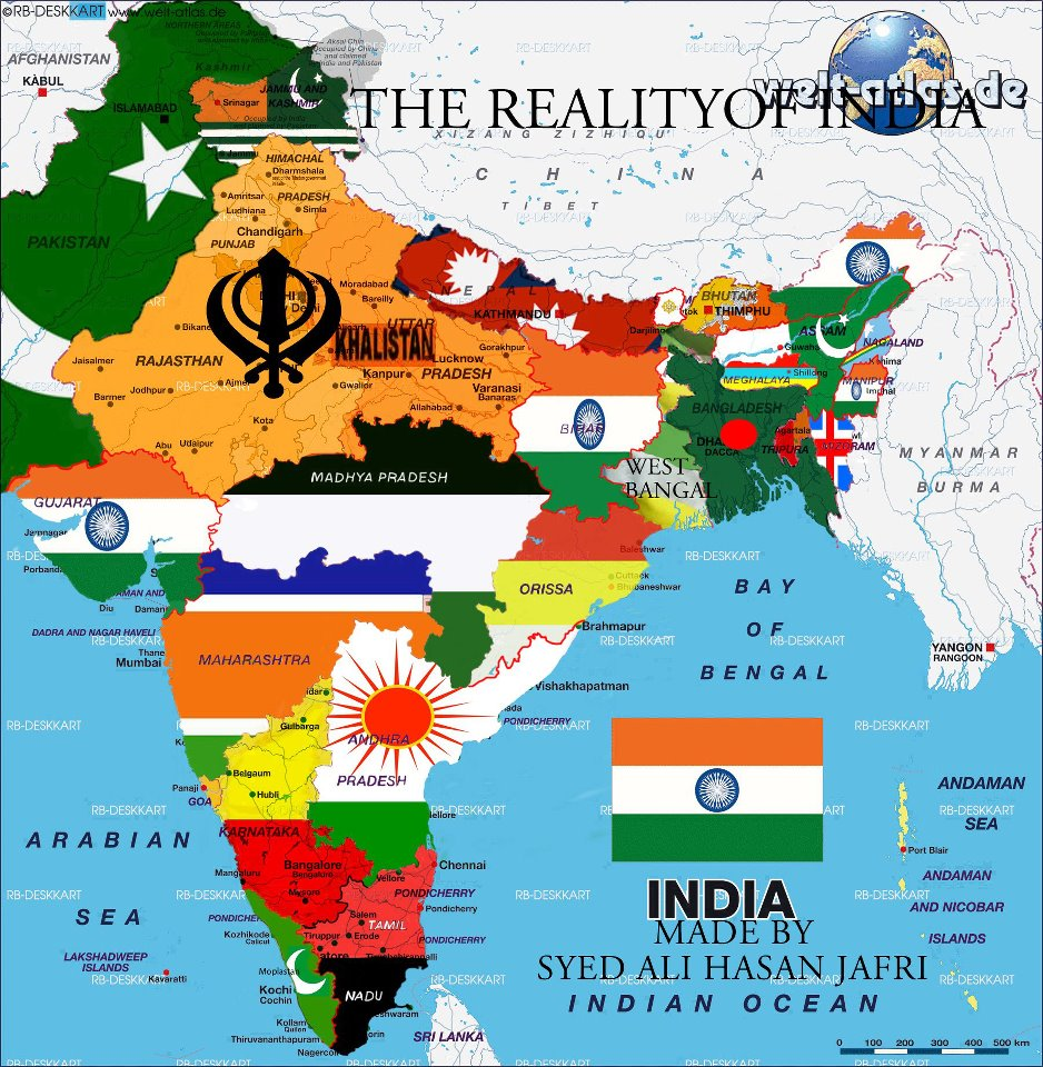 Image result for Pic of balkanized India?