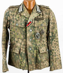 WAFFEN-SS CAMO TUNIC FROM HEER OFFICER WITH AWARDS by someone1fy