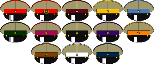 Corps Colour of Japanese Army (Alternate universe) by someone1fy