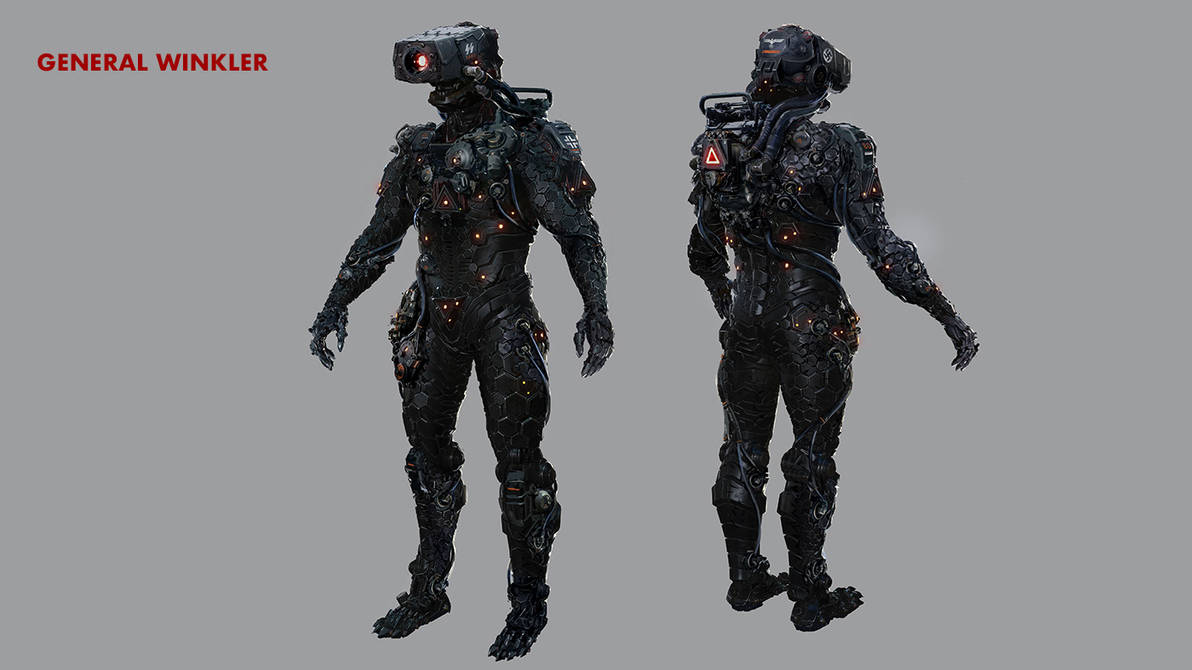 A concept art for an armored suit of the 3rd Reich by someone1fy